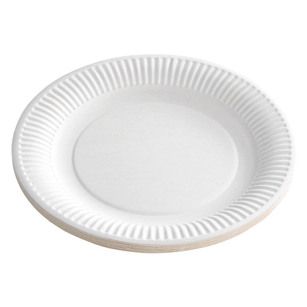 Ol-Gastro-Bedarf 1000 Pappteller weiß rund 18cm/beschichtet Imbissteller Catering Einweg TOP