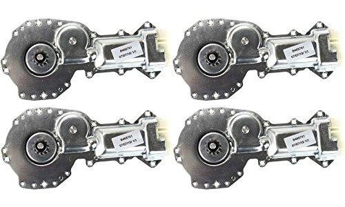 Evan-Fischer EVA16672064411 Window Regulator Motor for Pontiac Bonneville / Grand Am 87-05 RH And LH Front or Rear W/ 12-Teeth Gear 4pc Replaces Partslink# GM1356101 (Bonneville Pontiac Window Motor)