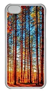 Autumn Forest Painting Polycarbonate Hard Case Cover for iPhone 6 (4.5) Transparent