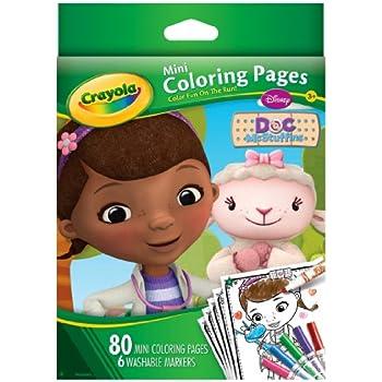 Amazon Crayola Doc McStuffins Mini Coloring Pages