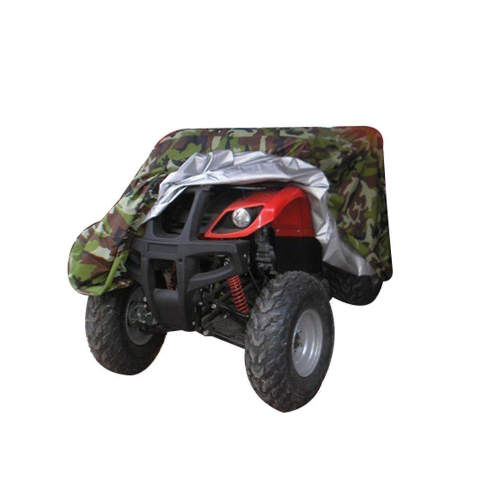 GenialES Funda Universal para Motocicleta Quad Bike ATV ATC Material 190T Sunproof Waterproof Heatproof Cover UV Protector Camuflaje XXXL:256x110x120cm