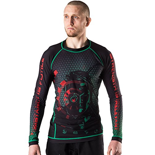 Fusion Fight Gear Star Trek The Borg Drone Rash Guard (Large)