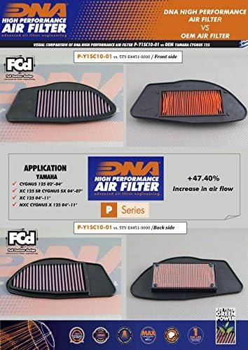 04-07 DNA Air Filter for Yamaha XC 125 SR Cygnus X P-Y1SC10-01 PN