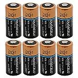 DL123A Duracell Ultra Lithium 8 Batteries (CR123A)