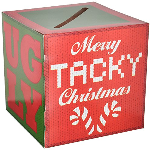 Ugly Box - Beistle Ugly Sweater Ballot Box W/Ballots