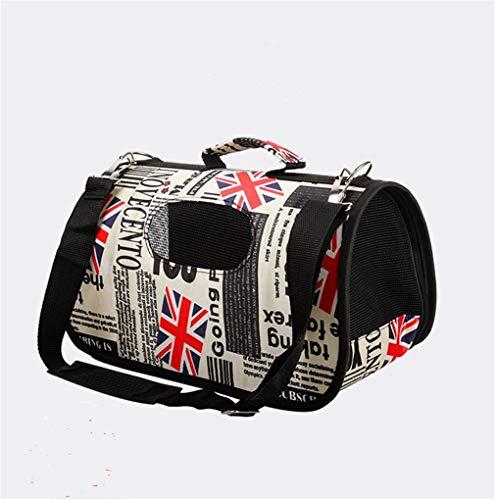 FR6RFS Pet Dog Carrier Bag Chihuahua Red Grid Travel Bag Outdoor Single Shoulder Bag for Small Dog Cat S/M/L USA Flag 46X23X30CM
