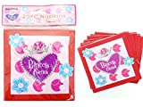 NAPKINS 20PC 2-PLY PRINCESS 33*33*21, Case of 144