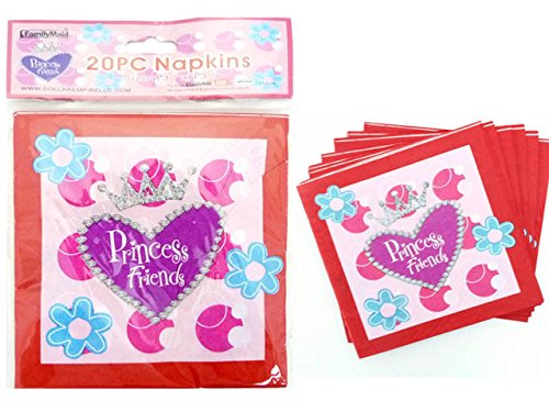 NAPKINS 20PC 2-PLY PRINCESS 33*33*21, Case of 144 by DollarItemDirect