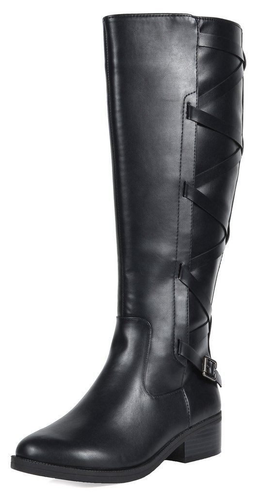 TOETOS Women's Ankor Black Knee High Riding Boots Size 7 M US
