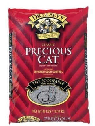 Bag 40lb Clumping Litter Cat (Precious Cat Classic Premium Clumping Cat Litter, 40 pound bag(3 Packs))