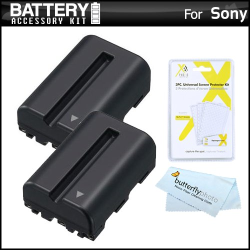 Extended Replacement Lithium Battery - 2 Pack Battery Kit For Sony Alpha SLT-A58K, a58, SLT-A99V, SLT-A65, SLT-A77, SLT-A57 DSLR Camera Includes 2 Extended Replacement (2000Mah) NP-FM500H Batteries + LCD Screen Protectors + More
