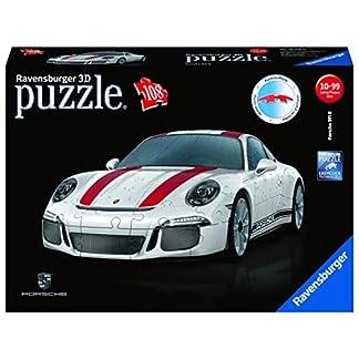 Ravensburger 3D Puzzle 12528, Porsche 911 R, 3D Puzzle für Kinder und Erwachsene mit 108 Teilen, Modellauto, Modellbau ganz ohne Kleber 10