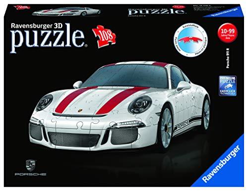cf4da4200 Amazon.com: Ravensburger Porsche 911 R - 12528 - 108 Piece 3D Jigsaw Puzzle:  Toys & Games