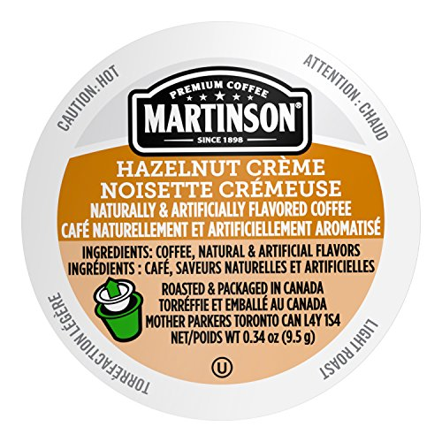 Hazelnut Creme Coffee Pods - Martinson Single Serve Coffee Capsules, Hazelnut Creme, 24 Count