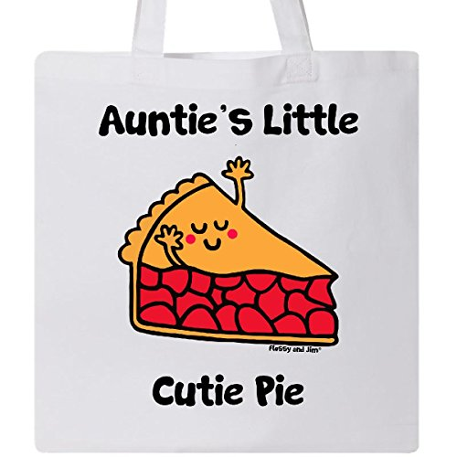 Inktastic - Auntie's little Cutie Pie Tote Bag White - Flossy And Jim
