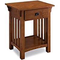 KD Furnishings Wooden Contemporary Side Table with Drawer