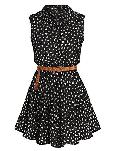 allegra-k-women-daisy-print-point-collar-sleeveless-belted-shirt-dress-black-l
