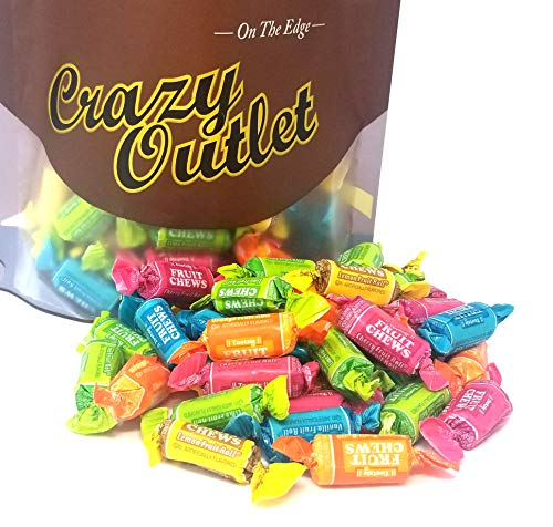 CrazyOutlet Pack - Tootsie Roll Fruit Chews Candy, Assorted Flavored Chewy Candy, Bulk Pack, 3 lbs