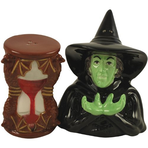 Westland Giftware Wizard of Oz Magnetic Wicked Witch and Hour Glass Salt and Pepper Shaker Set, 4-Inch