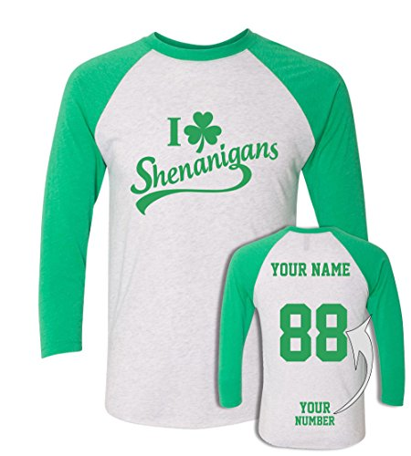Custom Jerseys ST Patrick's Day T Shirts ~ Saint Pattys Baseball Raglans Irish - Tri Custom Suits