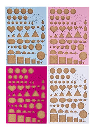- Quilling Boards - 4-Pack Paper Quilling Template Board Set, Quilling Molds with Scale, Paper Crafting Essential for Quillers, 4 Assorted Colors