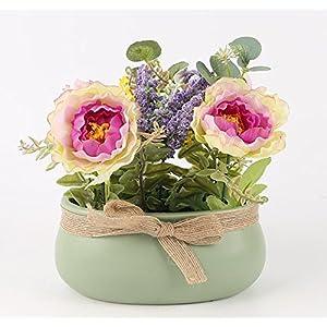 SituMi Artificial Fake Flowers CreativePotted PlantsMinimalistSilk FlowerHome DecorationPurple Daisy-Chained 97