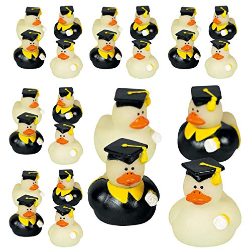 Kicko Glow in The Dark Rubber Duckies - Set of 24 - 1.75