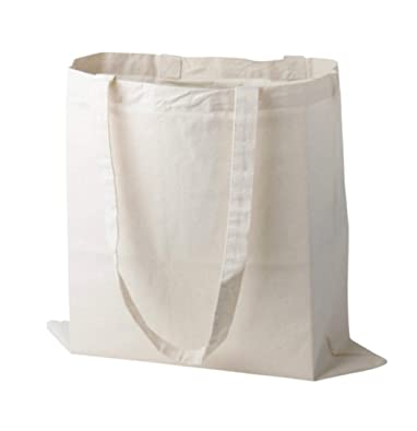 63c712f6c Pack of 10 Plain Natural Cotton Shopping Tote Bags Eco Friendly Shoppers