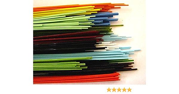 Beadmaking Rods Opaque Orange Devardi Glass COE 90 1//4 lb Spaghetti Stringers 2mm 4 ounces Fusing
