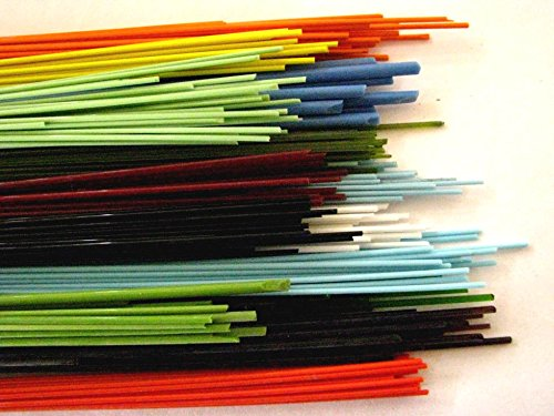 Devardi Glass COE 90 1/2 lb Spaghetti Stringers, 8 ounces Fusing, 8 ounces, Beadmaking Rods 90SS5