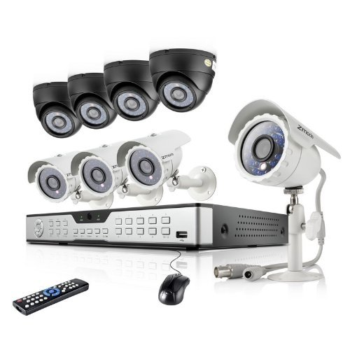 16CH H.264 DVR Security System with 8 600TVL Indoor Outdoor Night Vision Security Cameras