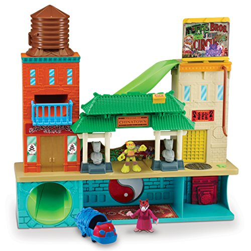 Half Shell Heroes Sewer Lair Playset with Michelangelo and Splinter Figures