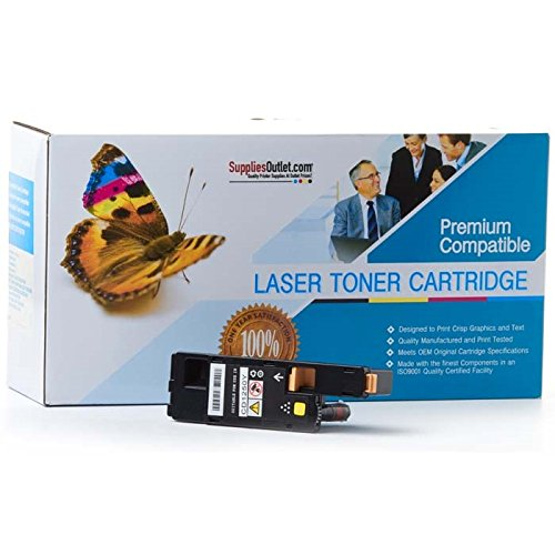 SuppliesOutlet Dell 331-0725 Compatible Toner Cartridge - Yellow - [1 Pack] For Color Laser 1250c, 1350cnw, 1355cn, 1355cnw, C1760nw, C1765nf, C1765nfw, Multifunction 1355cn, 1355cnw