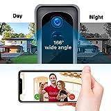 【2021 Upgraded】 ZUMIMALL WiFi Video Doorbell