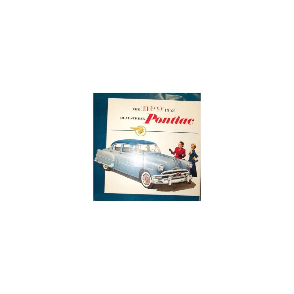 1953 Pontiac Sales Brochure Literature Book Piece Advertisement Specs Options