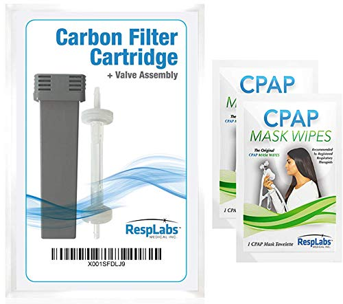 RespLabs Cartridge Filter Kit, Check Valve - Compatible with SoClean 2 - Include 2 Travel CPAP Wipes, Exact Fit for Your So Clean Cleaner and Sanitizer