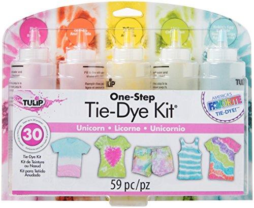 Tulip one-step tie-dye 10046097 Darice Tie-Dye Kit: Unicorn Party Supplies (59 Piece), Standard, Multicolor (Pack of 2) ()