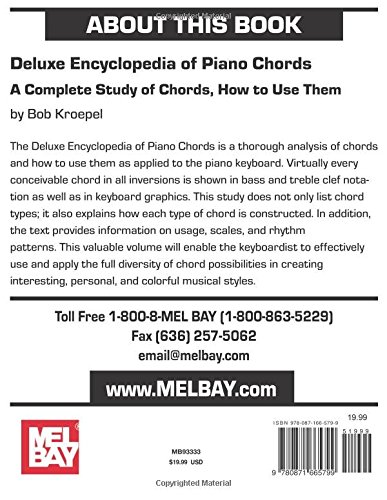 Mel Bay Deluxe Encyclopedia Of Piano Chords A Complete Study Of