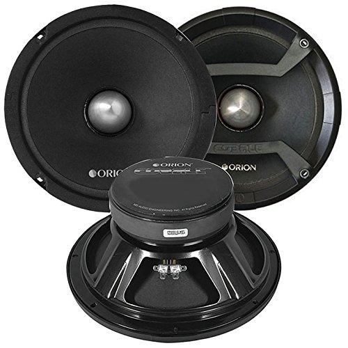ORION CM85 COBALT SERIES Car Midrange Speaker Pair with Grills, High Power 1200 Watts Max, 300 Watts RMS