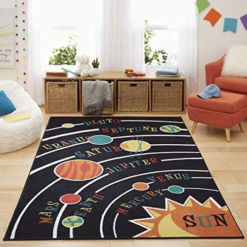 Mohawk Home Aurora Solar System Kids Playroom Educational Area Rug