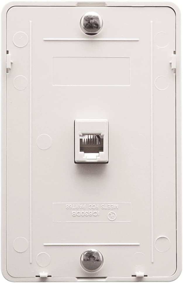 ICC Telephone Faceplate with 6P6C White