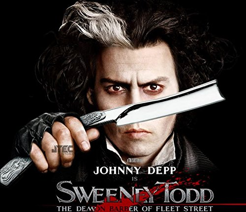 1johnny Depp's Sweeney Todd Movie Straight Razor Knife 10.5 Inch Stainless Steel Jt199 (Sweeney Todd Razor)