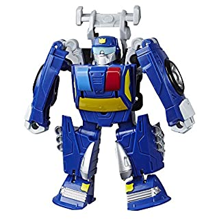 "Transformers Playskool Heroes Rescue Bots Academy Chase The Police-Bot Converting Toy, 4.5"" Action Figure, Toys for Kids Ages 3 & Up"