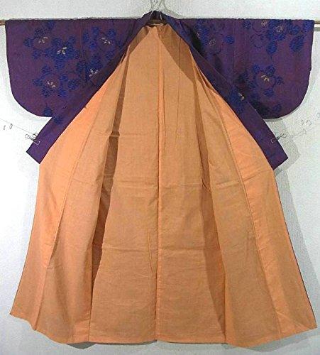 アンティーク 着物 椿の花模様 裄61.5cm 身丈130cm