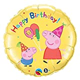 Qualatex Peppa Pig 18 in. Happy Birthday Balloon