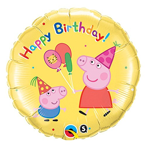 Free Qualatex Peppa Pig 18 in. Happy Birthday Balloon