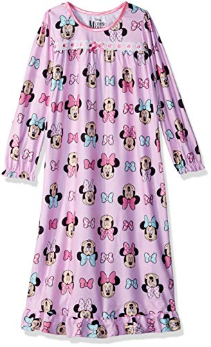 Disney Girls' Toddler Minnie Mouse Nightgown, Sleepy Bows, 2T