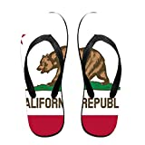 California Flag Comfortable Flip Flops For Children Adults Men And Women Beach Sandals Pool Party Slippers
