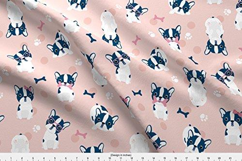 french bulldog fleece fabric - 4