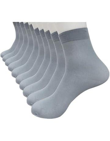 BaZhaHei-Calcetines Calcetines by hombre10 Pares de Fibra de bambú Ultrafino elástico Sedoso Medias de